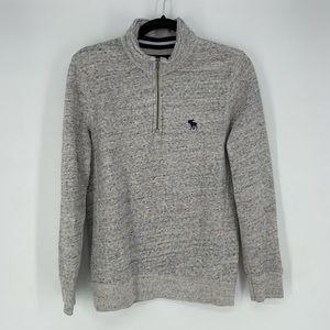 Abercrombie Fitch soft fleece grey 1/4 zip size XS